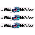 #BillyWhizz Sticker Small