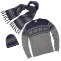 Christmas Traditional knitted jumper, hat and scarf